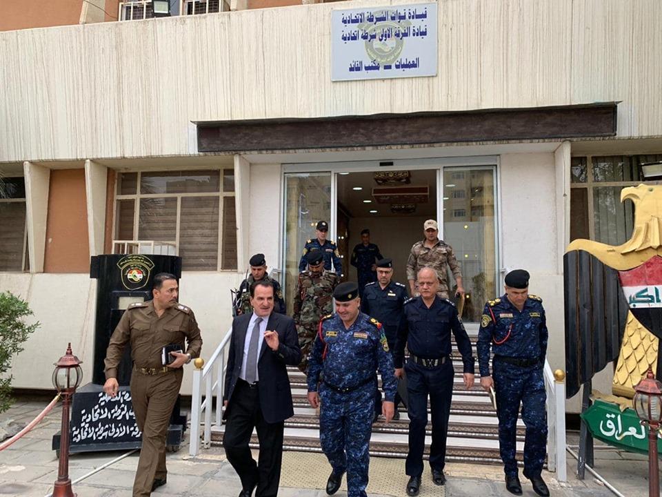 الاسدي يزور مقر قيادة عمليات الفرقة الاولى الشرطة الاتحادية