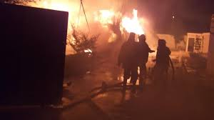 حرق مكتب العشائر في الناصرية