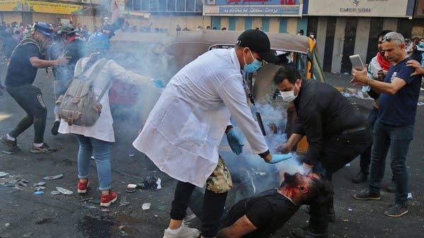 4 قتلى جراء اشتباكات الأمن مع المتظاهرين في بغداد