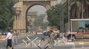إغلاق البوابات الرئيسية للمنطقة الخضراء في بغداد .