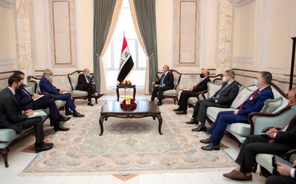 رئيس الجمهورية: العراق يتطلع إلى موقف دولي داعم .