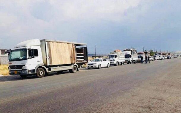 منفذ الشيب الحدودي مع ايران تم فتحة امام الزوار الايرانيين لمدة ساعتين فقط